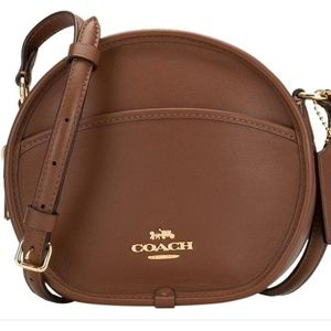 Coach Canteen Brown Leather Cross Body Bag